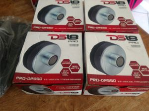 """Four (4) Brand New Ds18 Pro 2"""" 800 Watt Car Audio horns with throats for Sale in Temple Terrace, FL"""
