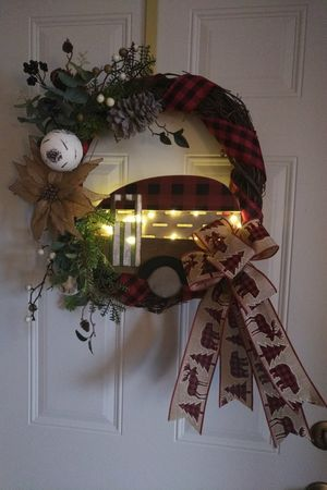 Christmas Camper grapevine wreath for Sale in Rhinelander, WI