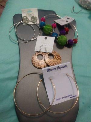 New 4pairs hoop earrings for Sale in Yonkers, NY