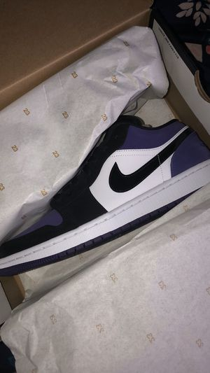 Air Jordan 1 Low Court Purple for Sale in Montgomery, AL