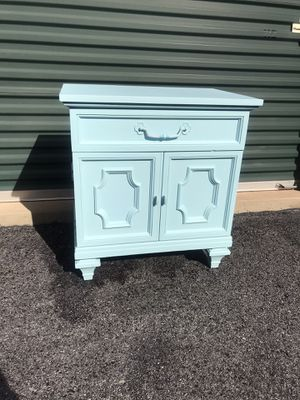 Real wood accent cabinet with drawer for Sale in Purcellville, VA