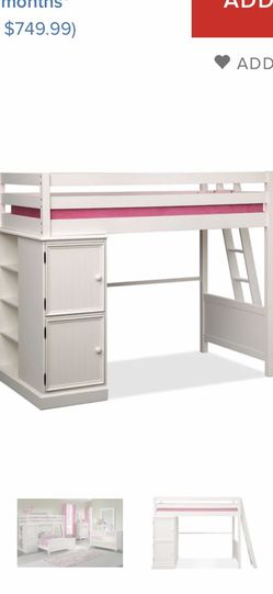 Top Bunk Bed With Side Storage for Sale in McKeesport,  PA
