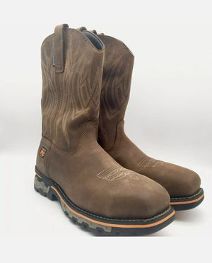 TIMBERLAND PRO AG BOSS SQUARE ALLOY TOE PULL-ON WORK BOOTS 1001A MEN'S size 9.5 for Sale in Glendale, AZ