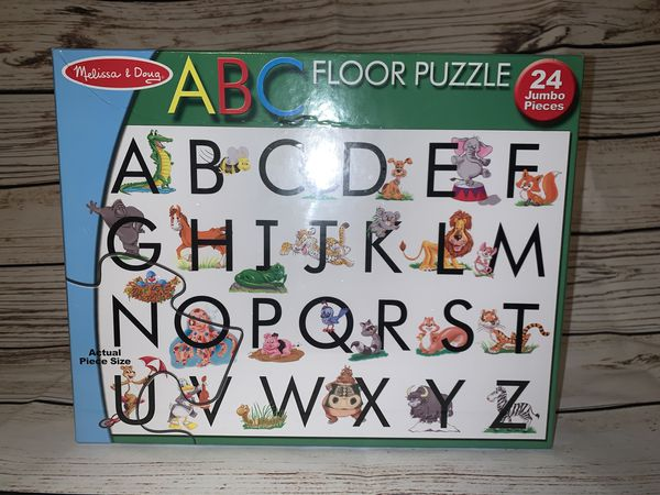 Melissa and Doug abc floor puzzle NEW in sealed box