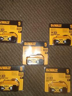 DeWalt 20v 5.0ah Batteries for Sale in Portland,  OR