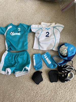 American girl doll soccer outfit! for Sale in Mission Viejo, CA