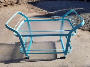 "Large Rolling Bar Cart in Seafoam Green - 43""W x 24""D x 36""H for Sale in Santee, CA"