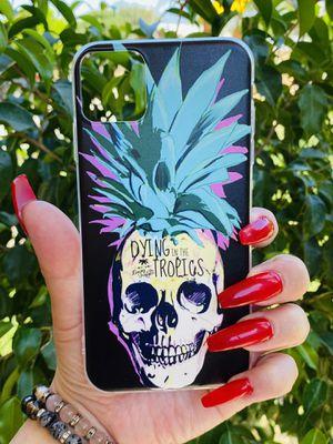 Brand new cool iphone 11 PRO MAX 6.5 case cover phone case rubber skull tropical girls guys mens womens skate skateboard swag brands hype hypebeast f for Sale in San Bernardino, CA