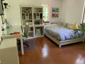 PBTeen bedroom set: full size bed, desk, 2 towers for Sale in Wayne, PA