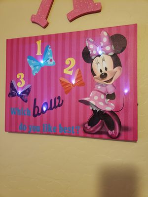 Minnie mouse canvas pictures for Sale in Buckeye, AZ