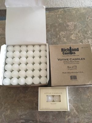 Two boxes of 72 votive candles for Sale in Mesquite, TX