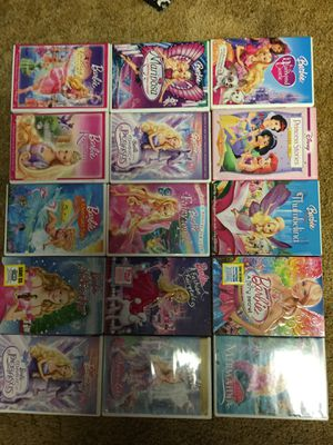15 Barbie & princess movies $50 for all for Sale in Mansfield, AR