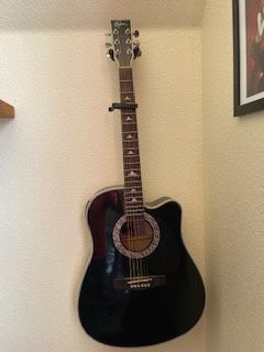 Esteban Silver and Black Acoustic Guitar for Sale in Rio Rancho, NM