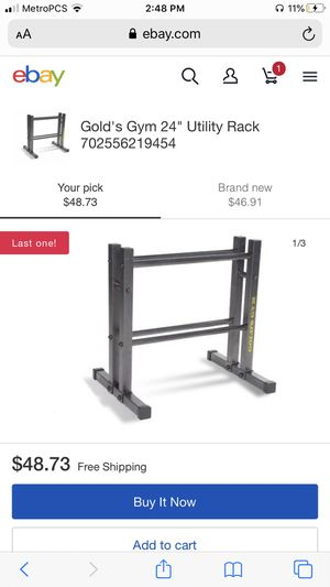 Golds gym weight rack for Sale in Stockton, CA