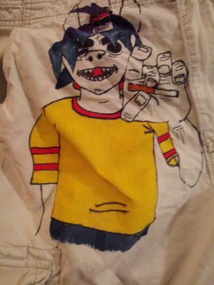 Gorillaz custom made shorts with 2D and lyrics for Sale in Levittown, PA