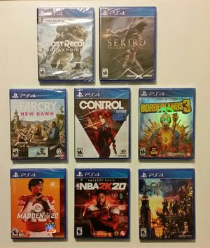 PlayStation 4 Games BRAND NEW UNOPENED SEALED 🌟8 G for Sale in Modesto, CA