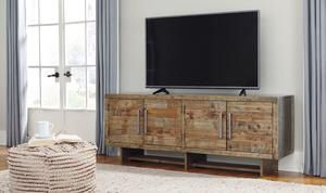 Mozanburg Rustic Brown Extra Large TV Stand | W665-68 for Sale in Austin, TX