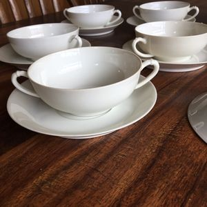 White Haviland Soup Bowls -set of 9 for Sale in Hoquiam, WA