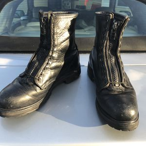Red Wing Steel Toe Leather Men's Black Work Boots With Zippers Size 11 for Sale in Delray Beach, FL