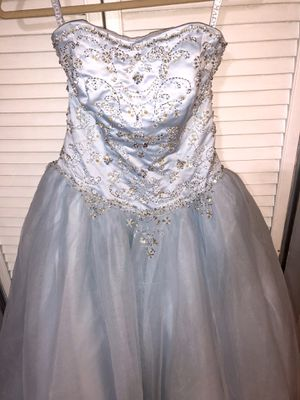 Beautiful Blue strapless Prom, Quinceñera size 2 dress for Sale in Brooklyn, NY