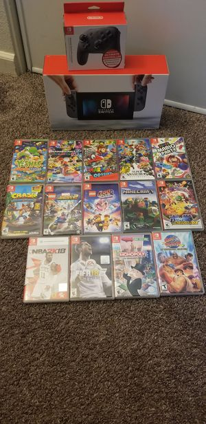 ndo Switch with 14 games and wireless controller for Sale in San Jose, CA
