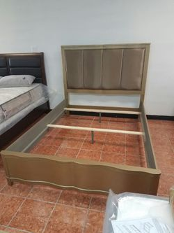 [F9382] DELUXE QUEEN SIZE BEDFRAME W/ CUSHIONED HEADBOARD [ONLY $50 DOWN AND 90 DAYS TO PAY SAME AS CASH] for Sale in Irving,  TX
