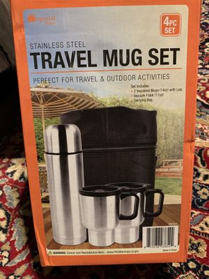 STAINLESS STEEL TRAVEL MUG SET brand new in the box for Sale in Stockton, CA