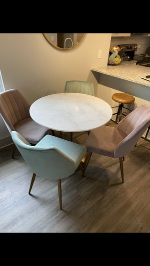 Marble kitchen table and chairs for Sale in Raleigh, NC