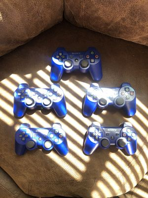 Ps3 controllers blue for Sale in Jurupa Valley, CA