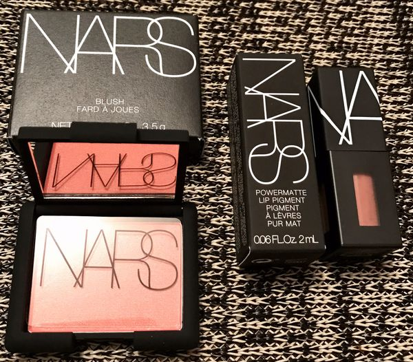 NARS - Orgasm Blush & American Woman mini lip pigment