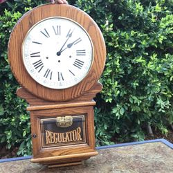 Rare Howard Miller 612-488 Oak Triple Chime Key Wind Mechanical Regulator Clock (Not Sure If It Works) for Sale in Los Angeles,  CA