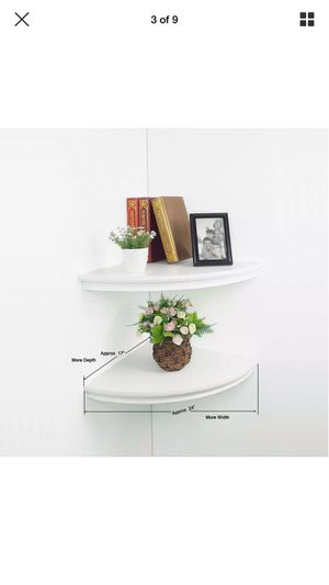 HAO Set of 2 Large Classic Radial Corner Wall Shelf for Sale in KIMBERLIN HGT, TN
