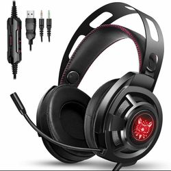 ONIKUMA M190 PRO Bass Surround LED Gaming Headset Headphones with Microphone for Sale in Pasadena,  CA