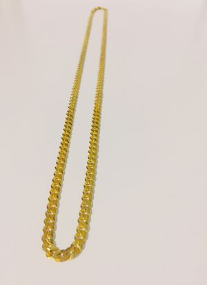 925 Italian Sterling Silver chain plated with 24K gold for Sale in West Covina, CA