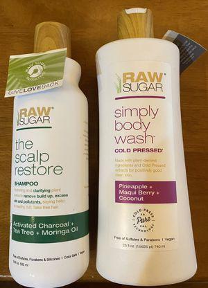 Brand new Raw Sugar brand body wash and scalp restore shampoo for Sale in Tampa, FL