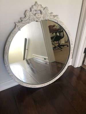 Antique wood frame mirror. Crack in top that just needs wood glue. for Sale in Costa Mesa, CA