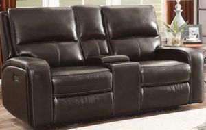 Genuine Leather Power Reclining Sofa w/Power Adjustable Headrest for Sale in Lawrenceville, GA