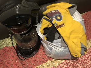 Free baby boy clothes and coffee pot for Sale in Chandler, AZ