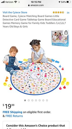 Lukat detectives looking chart memory board game for Sale in Avondale, AZ
