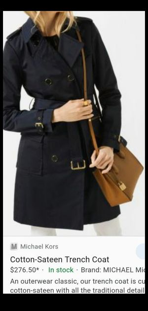 Size small Michael kors trench coat for Sale in Northglenn, CO