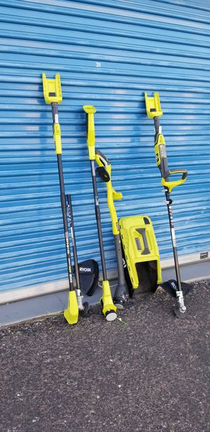 Assorted Ryobi Trimmers and Edges Not complete Selling everything shown in photos for Sale in Phoenix, AZ