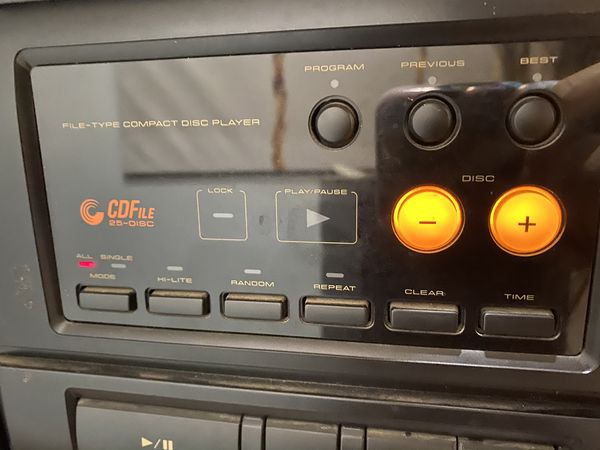 Pioneer stereo file type cd cassette deck receiver xr-2000