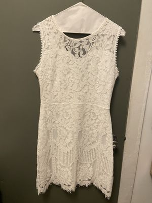 White Cocktail Dress Sz Medium for Sale in Chicago, IL