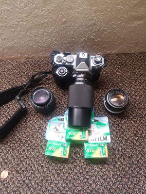 Nikon SLR camera w/3 lenses for Sale in Oroville, CA