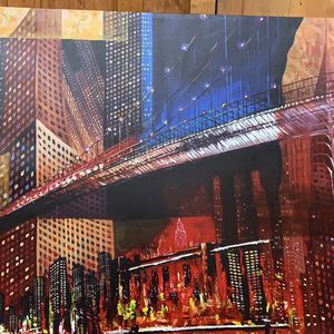 City painting canvas for Sale in Lynnwood, WA