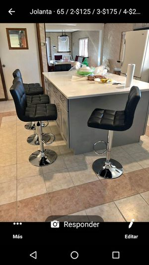 Beautiful bar stools chairs cadeiras for Sale in Clifton, NJ