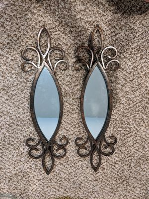 Set of 2 matching decorative mirrors, wall hangings for Sale in Littleton, CO