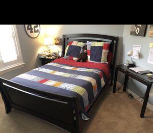 5 piece queen bedroom set frame head/foot board armoire dresser nightstand EUC Ashley Furniture for Sale in Franklin, TN
