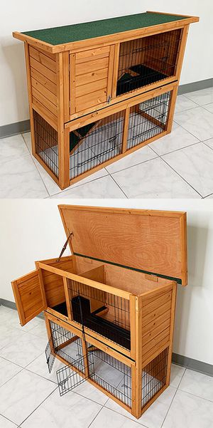 "NEW $95 Wooden Rabbit Hutch 44x17x36"" for Sale in Downey, CA"