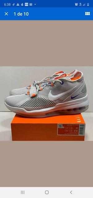 Nike Men Air Force Max Low BV0651 005 Sneaker Grey Orange White for Sale in Phoenix, AZ